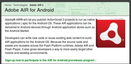 http://labs.adobe.com/technologies/air2/android/