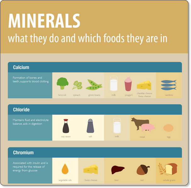 List Of Food Types And Minerals