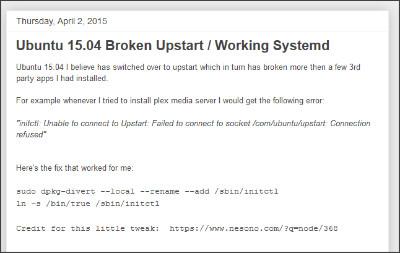 http://csgeek-random.blogspot.jp/2015/04/ubuntu-1504-broken-upstart-working.html