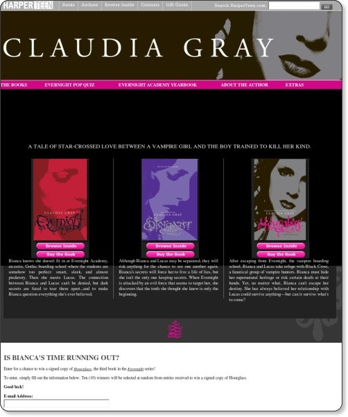http://www.harperteen.com/contests/claudiagray/books.aspx?HCC=HCCP_TEEN_FLASH_020510