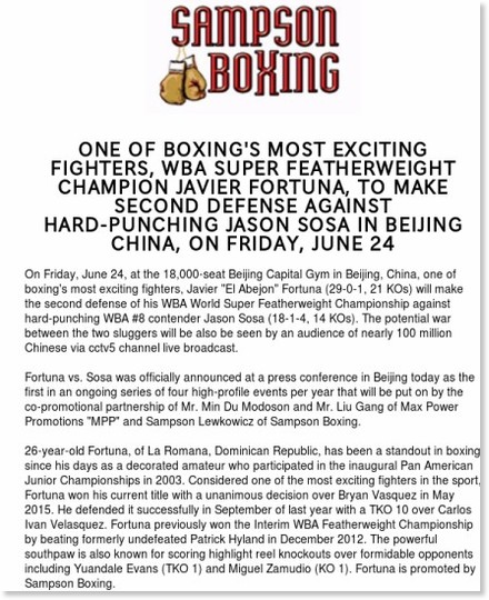 http://myemail.constantcontact.com/ONE-OF-BOXING-S-MOST-EXCITING-FIGHTERS--WBA-SUPER-FEATHERWEIGHT-CHAMPION-JAVIER-FORTUNA--TO-MAKE-SECOND-DEFENSE-AGAINST-HARD-PUN.html?soid=1101736934791&aid=lIRaeGXF4Ss