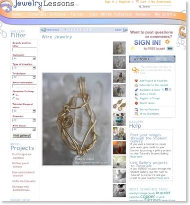 http://www.jewelrylessons.com/gallery/wire-jewelry-0
