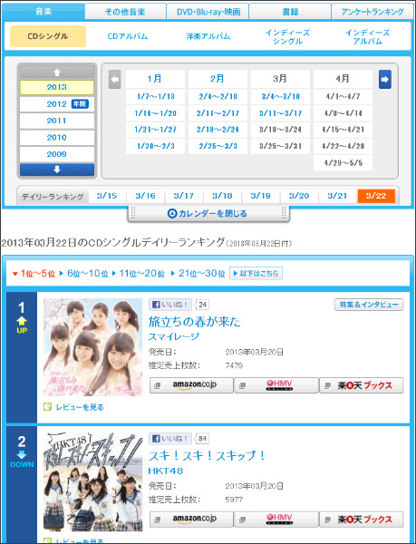 http://www.oricon.co.jp/rank/js/d/2013-03-22/more/1/
