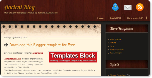 Best Rustic Blogger Templates