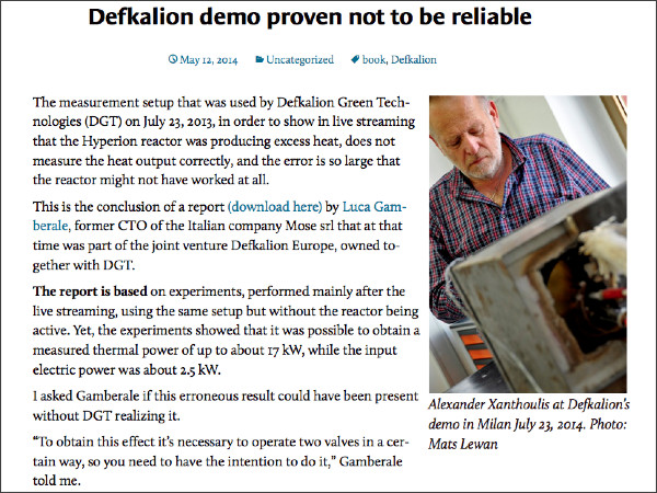 http://animpossibleinvention.com/2014/05/12/defkalion-demo-proven-not-to-be-reliable/