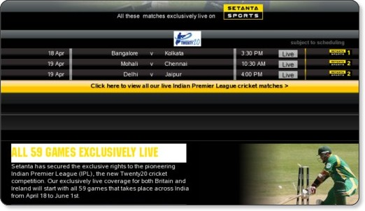 http://www.setanta.com/en/UK/Our-Sports/Cricket/