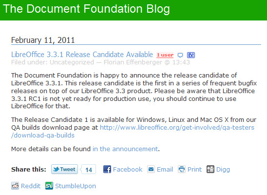 http://blog.documentfoundation.org/2011/02/11/libreoffice-3-3-1-release-candidate-available/