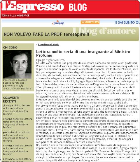 http://nonvolevofarelaprof.blogautore.espresso.repubblica.it/2012/10/12/lettera-molto-seria-di-una-insegnante-al-ministro-profumo/