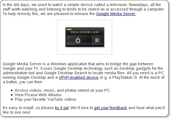 http://googledesktop.blogspot.com/2008/06/from-desktop-to-your-tv.html