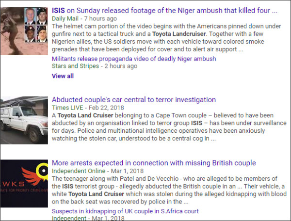 https://www.google.com/search?biw=1102&bih=884&tbm=nws&ei=8kSdWuChGIucjwOIwI7gAw&q=Toyota+Landcruiser+ISIS&oq=Toyota+Landcruiser+ISIS&gs_l=psy-ab.3...5045.6661.0.7167.5.5.0.0.0.0.157.734.0j5.5.0....0...1c.1.64.psy-ab..0.2.301...0j0i13k1.0.AEG8pGx7vX4