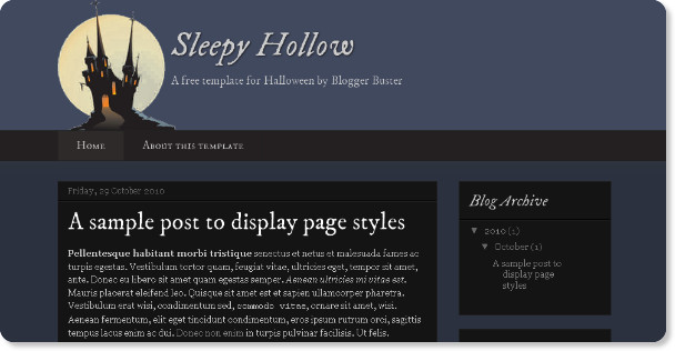 Best Holloween Holiday Blogger Templates
