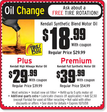 tires plus coupons oil change 19.99